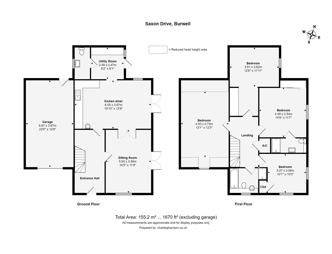Floor plan Saxon Drive, Burwell, Cambridge